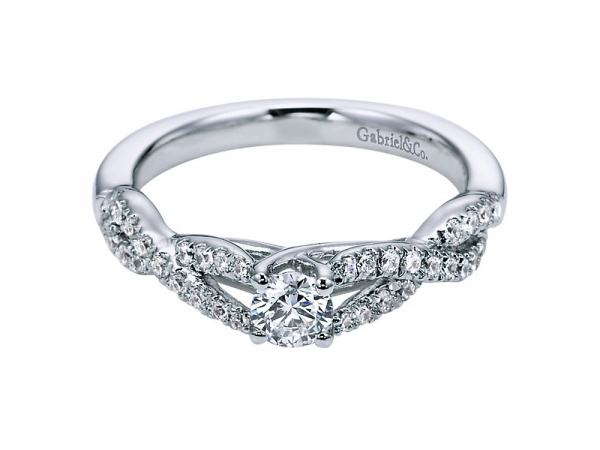 1/2 Carat Infinty Diamond Engagement Ring by Gabriel & Co