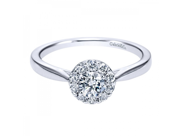 1/2 Carat Diamond Halo Engagement Ring by Gabriel & Co