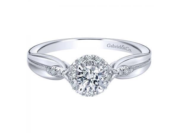 3/8 Carat Halo Diamond Engagement Ring by Gabriel & Co