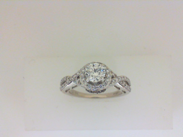 .55 Carat Round Diamond Halo Engagement Ring by Le Vian