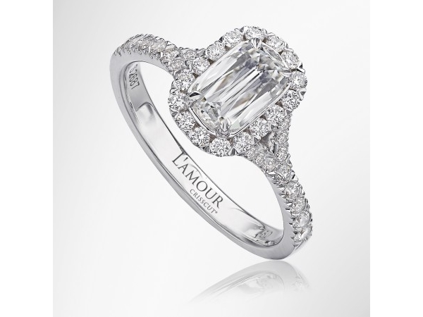 .70 Carat Fancy Cut Diamond Halo Engagement Ring  by Christopher Designs