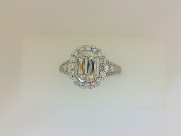 .63 Carat Fancy Cut Diamond Halo Engagement Ring  by Christopher Designs
