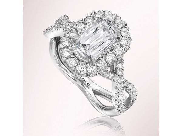 .71 Carat Diamond Halo Engagement Ring  by Christopher Designs