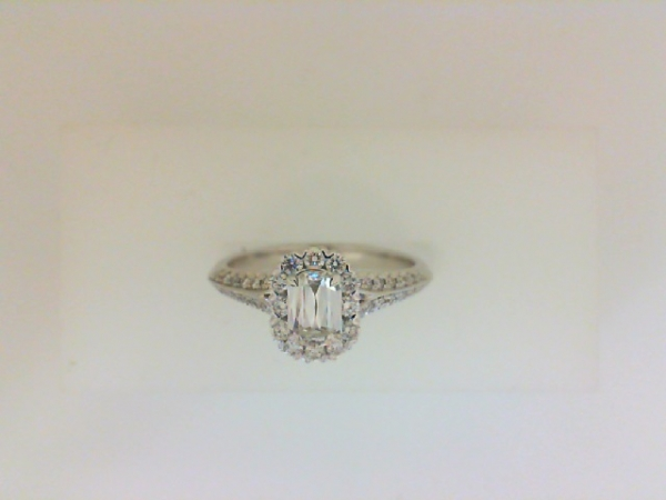 .31 Carat Fancy Cut Diamond Halo Engagement Ring  by Christopher Designs