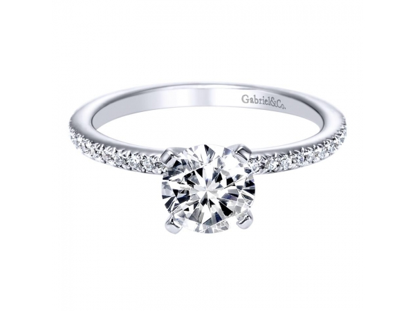 14K White Gold Diamond Semi-Mount by Gabriel & Co