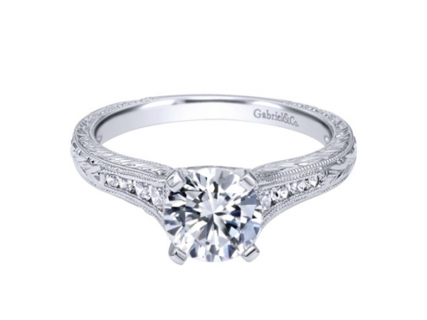 .72 Carat Round Diamond Engagement Ring  by Gabriel & Co