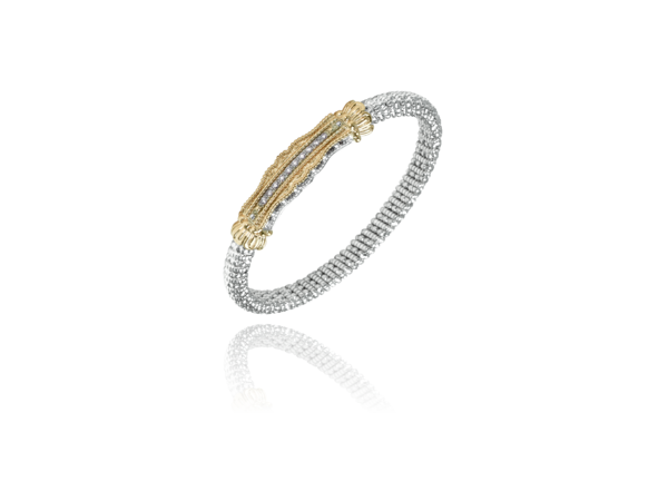 Diamond 14K and Silver Bracelet by Vahan