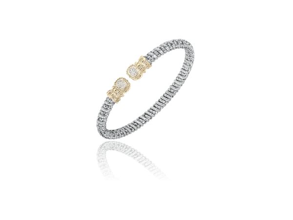 Diamond Silver and 14K Bracelet by Vahan