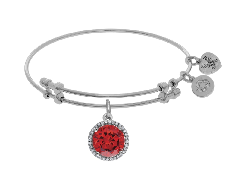 Angelica January Birthstone Bangle by Angelica