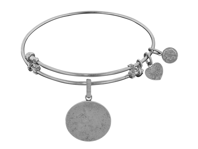 Angelica Oval Charm Bangle by Angelica